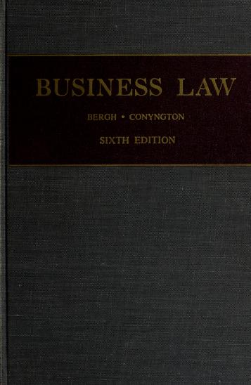 Cover of: Business law | Conyngton, Thomas