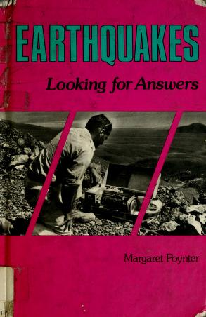 Cover of: Earthquakes | Margaret Poynter