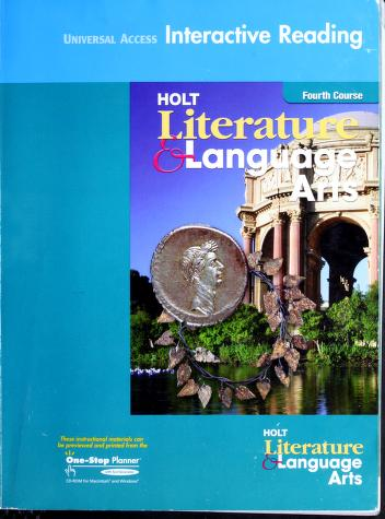 Cover of: Interactive Reading Fourth Course Workbook (Holt Literature & Language Arts) by
